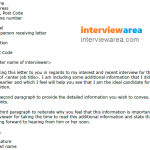 Job Interview Thank You Letter Additional Information