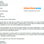 Job Interview Thank You Letter Scheduling a Follow Up Example