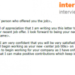 Job Acceptance Letter Example