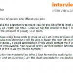 Job Offer Thank You Letter Example