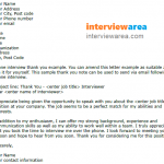 Phone Interview Thank You Letter Example