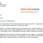 thank you letter example for a second interview