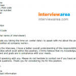 Simple Job Interview Thank You Letter Example