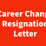 career change resignation letter