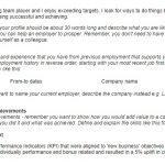 Chronological CV Template Example