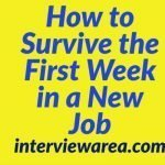 How to Survive the First Week in a New Job
