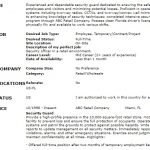 Retail Security Officer CV Example