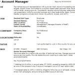 senior account manager cv resume example