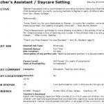 teacher assistant cv example resume